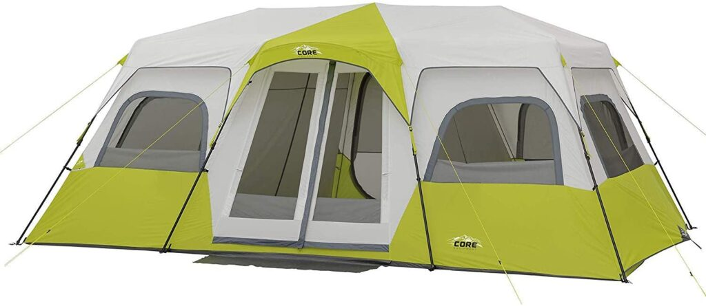 CORE 12 person Instant Cabin Tent for wind and rain