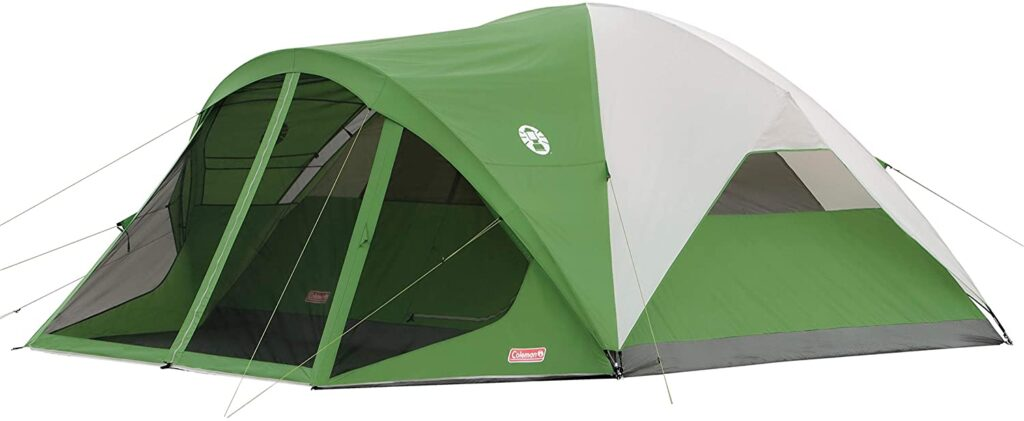 Coleman Dome Tent for wind and rain