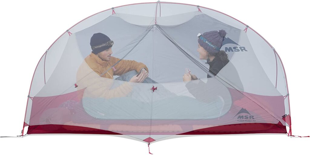 MSR tent for camping with dog