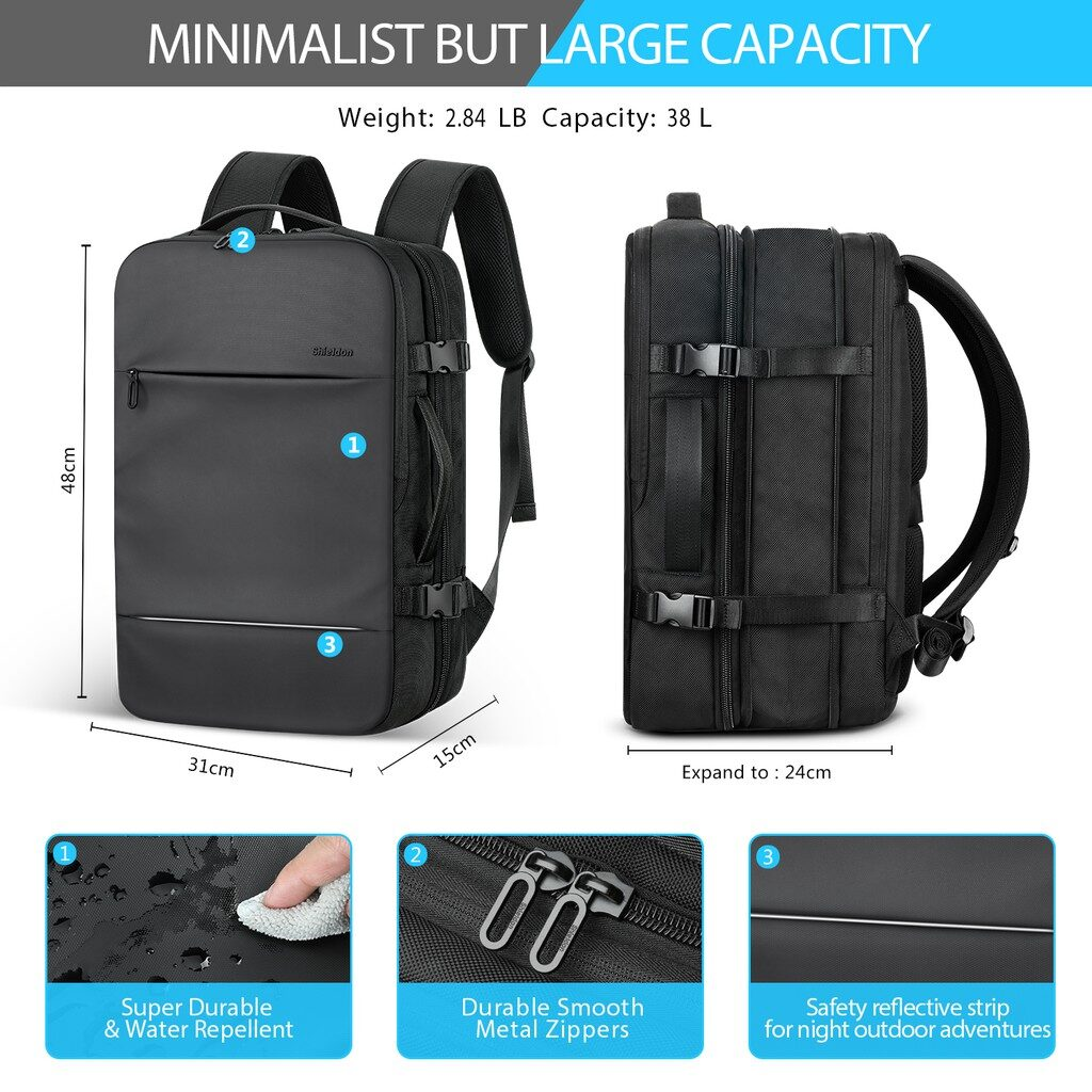 backpack open like suitcase, bag open like suitcase