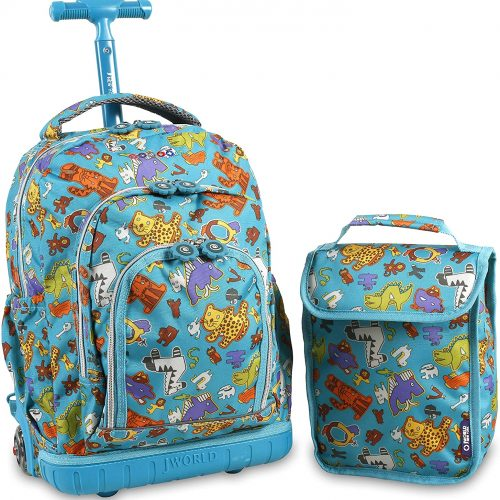 JWorld Rolling Backpack with Lunch Bag